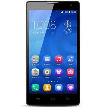 华为 荣耀3C 白色 3G手机 WCDMA/GSM 双卡双待 2G RAM版
