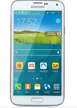 三星(SAMSUNG) Galaxy S5 G9008W 4G手机(闪耀白) 双卡双待